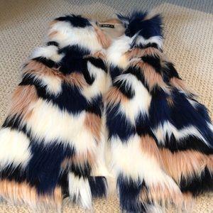 Funky faux fur vest